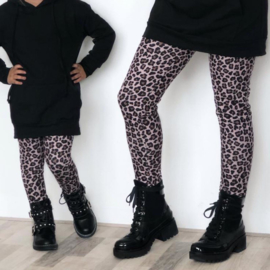 Pink printed pants (mommy & me)