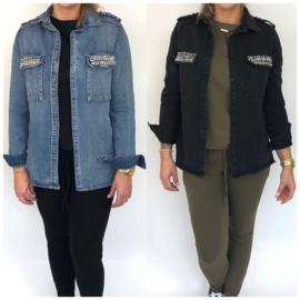 Bling pocket denim jacket