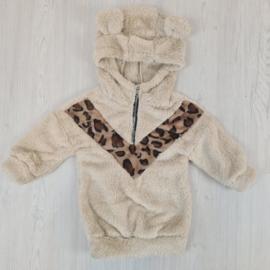 Beige Leopard V & Soft dress