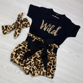 Wild & Leopard bloomer set