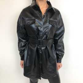 Black leather blouse dress (mommy)