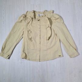 My beige ruffled blouse