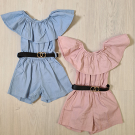 Baby belted playsuit
