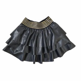 Gold & Leather skirt