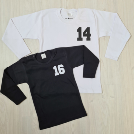 Baseball number tee