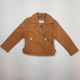 Camel studded jacket