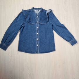 My dark denim blouse