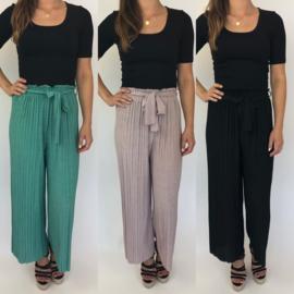 Glitter pleated pants
