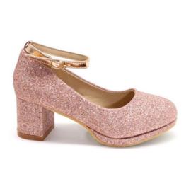 Pink Glittery heels