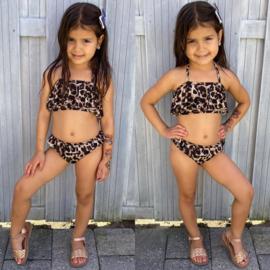 Leopard ruffled bikini