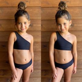 One shoulder bikini - Black
