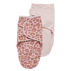 Inbakerdoeken  2-pack panter pink
