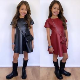 Bagged leatherlook dress