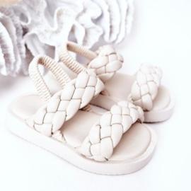 Beige 2 braids slipper