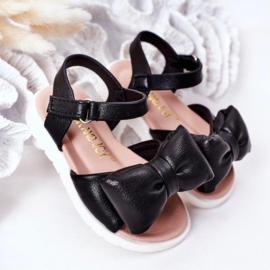 Big bow sandal - black
