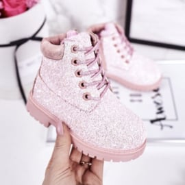 Pink glitter timby