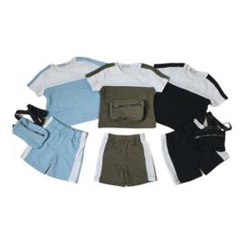 Bag & summer white stripe set