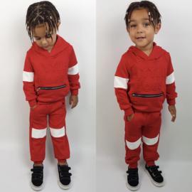 Hooded Little boss set - red