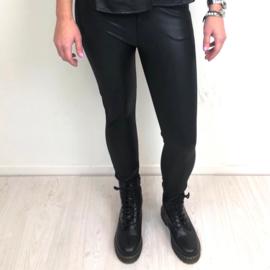 Black leatherlook tregging (mommy)