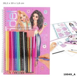 TOPModel kleurboek met kleurpotloden CANDY CAKE