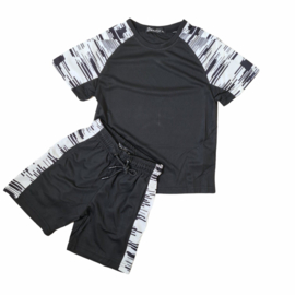 Boys black set white sides