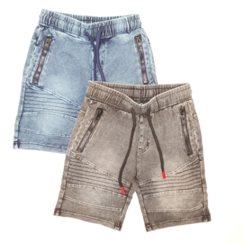 Red detail denim short