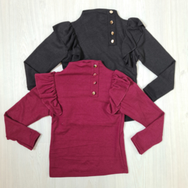 Ruffled buttoned top