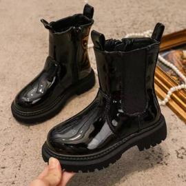 Shiny chelsea boots