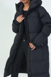 Black Long & bubbly hooded jacket