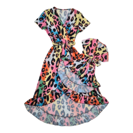 Multicolor leopard dress - Mommy & me