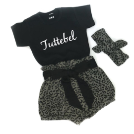 Tuttebel & leopard green bloomer set