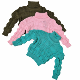 Bubble cable sweater