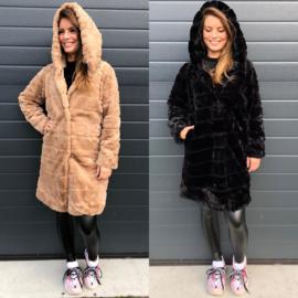 Winter glamour coat long