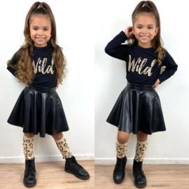 Wild, skirt & knee socks set