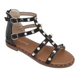 Just a little color sandals - Black
