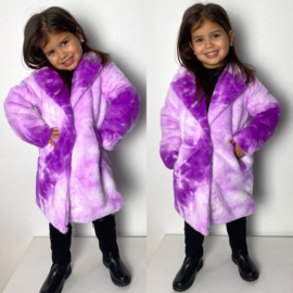 Purple furry jacket