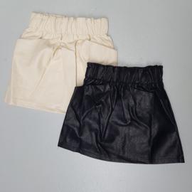 Leather pocket skirt