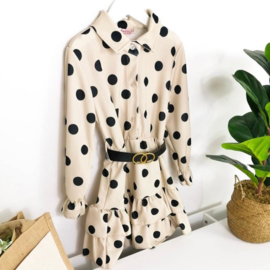 Some beige some dots dress