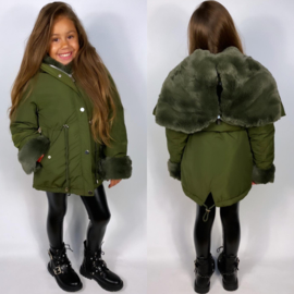 Furry sleeve jacket