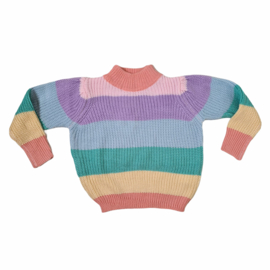 Cable colored sweater