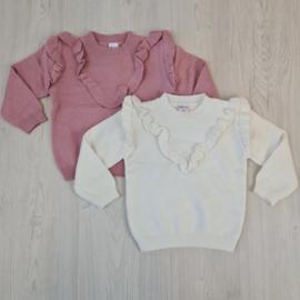 Baby ruffle sweater