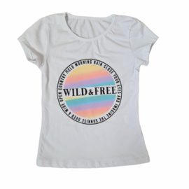 Multicolor wild & free top