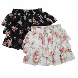 Black & white flower skirt