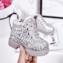 Silver glitter timby