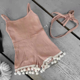 Mini pompom jumpy - pink