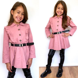 Belted ruffled dress - 3 colors