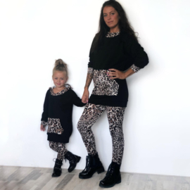 Leopard & Black hoody set (mommy & me)