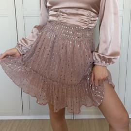Strass skirt pink