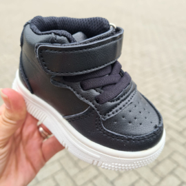 High baby sneakers - black