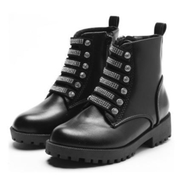Silver diamond boots